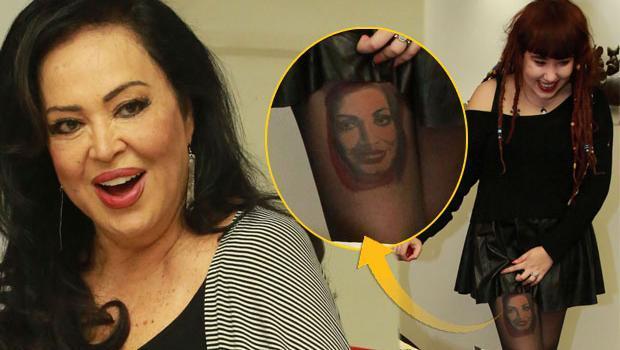 Gənc xanım aktrisanın portretini ayağına döymə etdirdi - foto