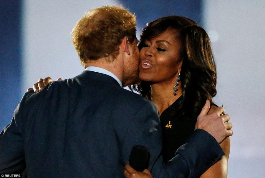 Şahzadə və Mişel Obama bir arada