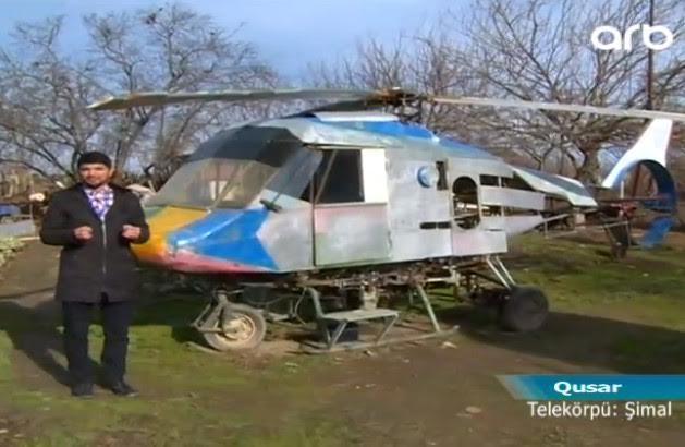 """""""Siqaretə verilən puldan helikopter ixtira etmişəm"""" - video + fotolar"""