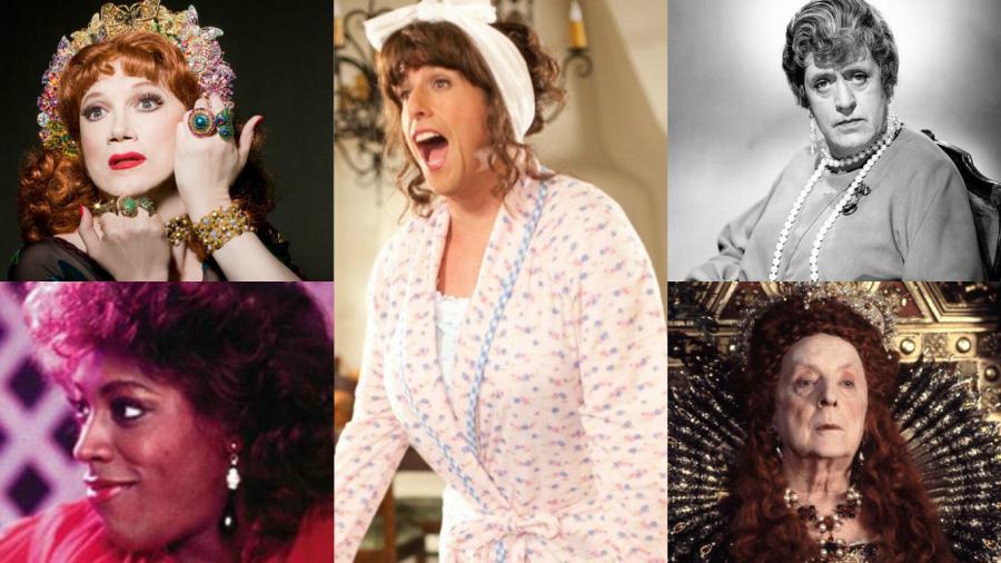 Qadın rolu oynayan məşhur kişilər - fotolar