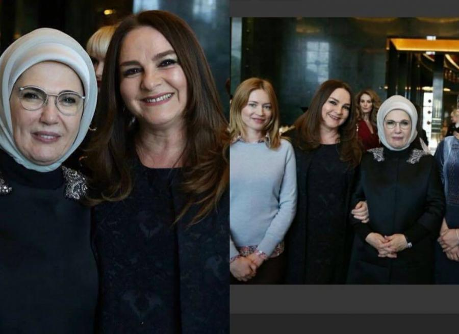Azərbaycanlı aktrisa Prezident Sarayında - fotolar
