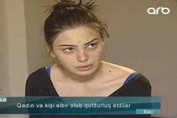 Bakıda həbs olunan qız gözəlliyi ilə şok etdi – video