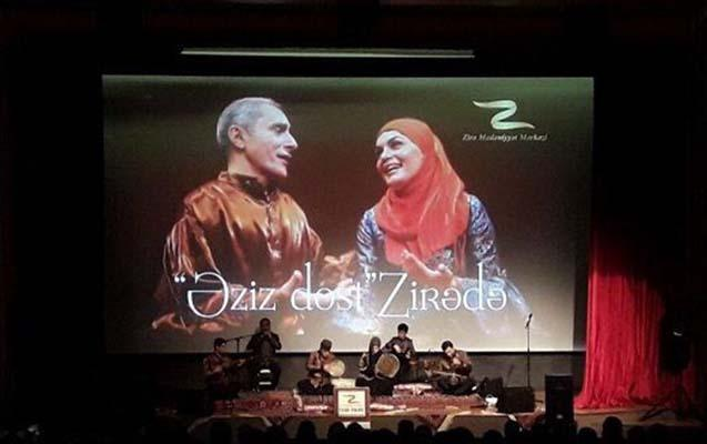 Xalq artisti qızı ilə konsert verdi - foto