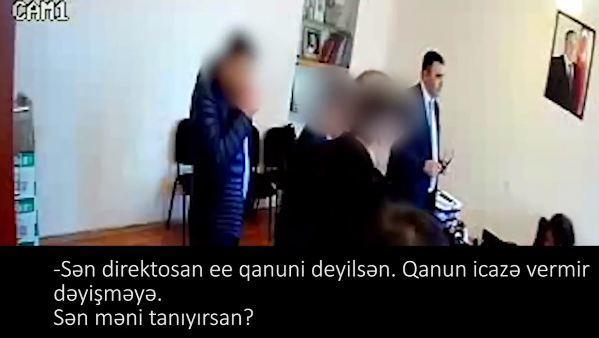 Tanınmış aktyorun direktorla dava etdiyi anın videosu yayıldı