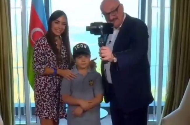 Leyla Əliyeva və oğlu Rusiyanın mətbəx verilişinə çəkildi - Video