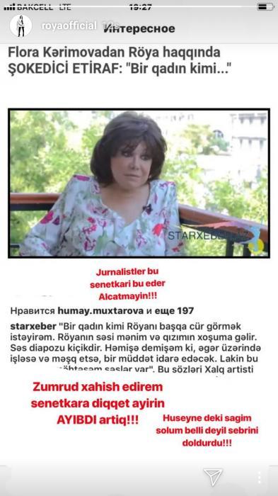 """Səbrimi doldurdu"" - Röya"