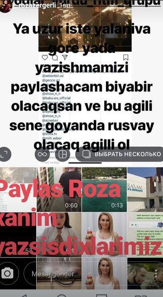 """""""Roza Zərgərli pulumuzu vermir, bizi hədələyir"""" - Qalmaqal"""