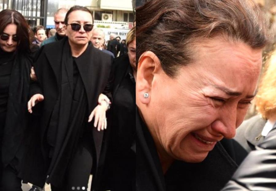 Aktrisa ərinin dəfnində göz yaşı tökdü - Fotolar