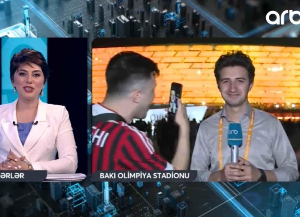 İngilis fanatlar azərbaycanlı jurnalistə çətin anlar yaşadıb - Video