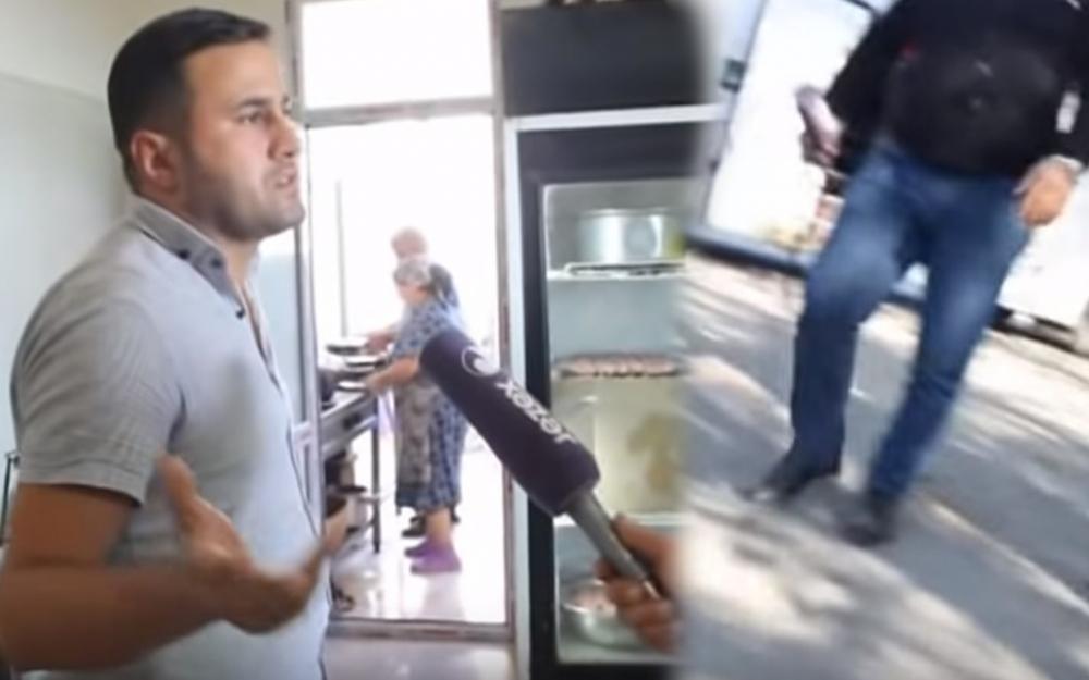 """""""Xəzər"""" TV-nin əməkdaşlarına hücum ediblər - Video"""