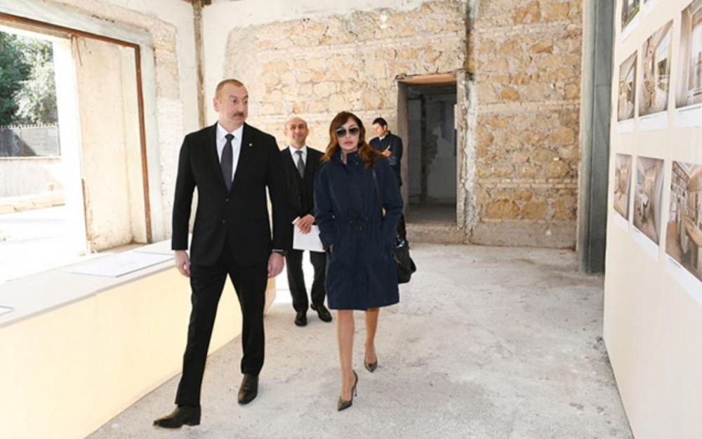 Prezident Azərbaycan Mədəniyyət Mərkəzinin binası ilə tanış olub -  Fotolar