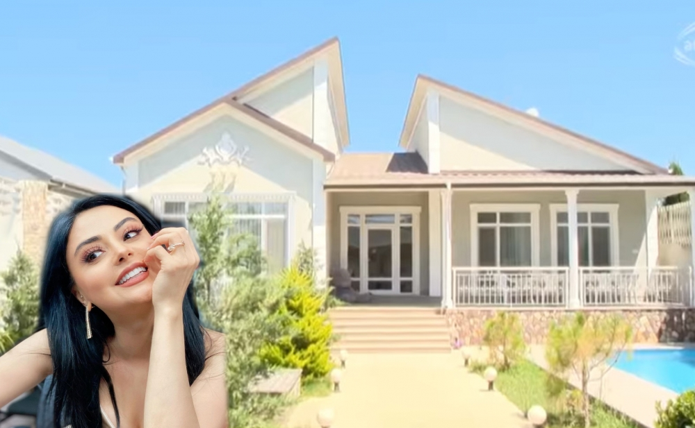 Vüsalə Əlizadənin bağ evi -  Video