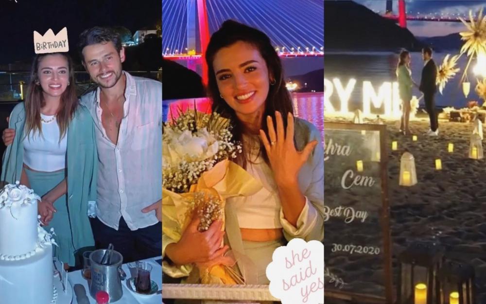 Cem Belevidən sürpriz evlilik təklifi -  Fotolar