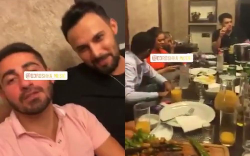 Restoranda karantini pozdular -  Dj Roşka da orada olub + Video