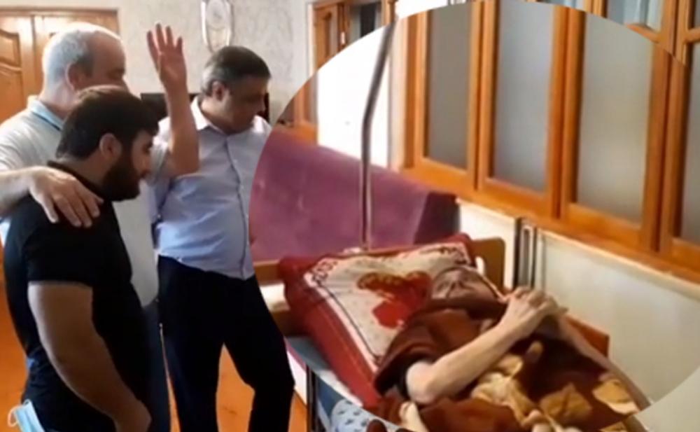 Meyxanaçılar insult keçirən Ağakərimi ziyarət etdi -  Video