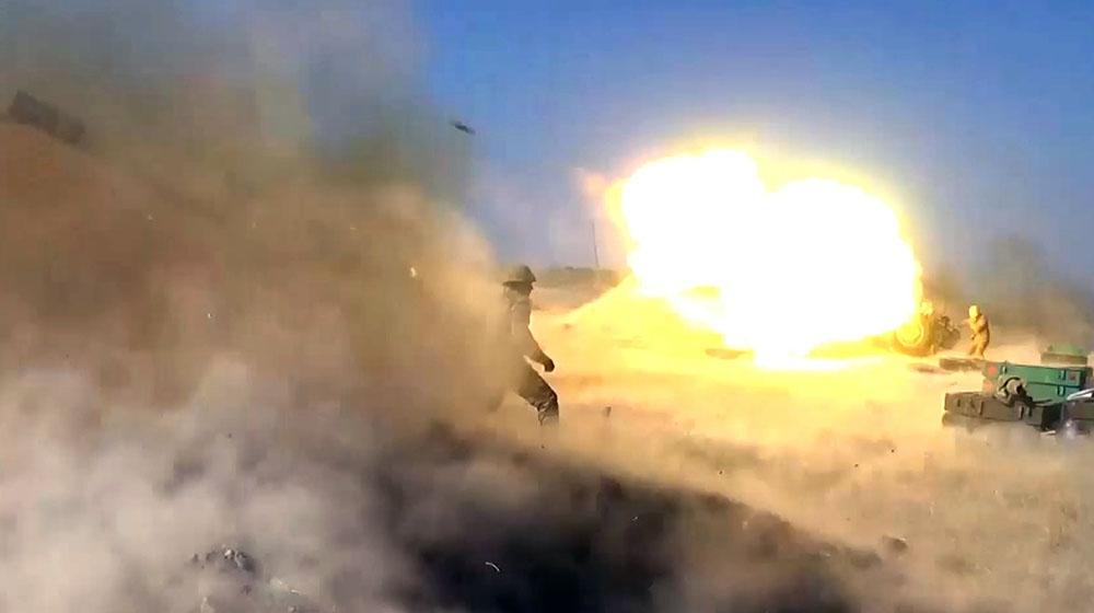 Düşmən mövqelərinə raket-artilleriya zərbələri endirilir -  Video