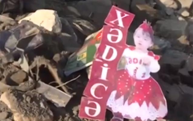 Gəncədə iki uşaq hələ də dağıntılar altındadır -  Video