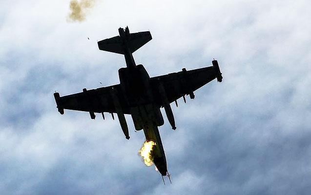 Düşmənin növbəti Su-25 təyyarəsi vuruldu