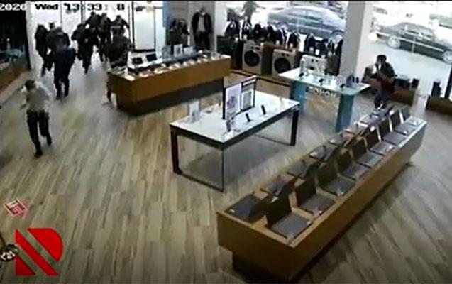 Bərdəyə raketin düşdüyü an -  Video