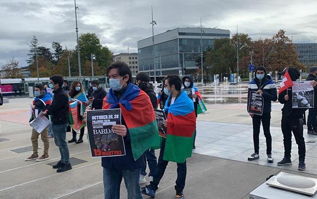 Cenevrədə Ermənistanın terrorçu hərəkətlərinə etiraz edildi -  Fotolar