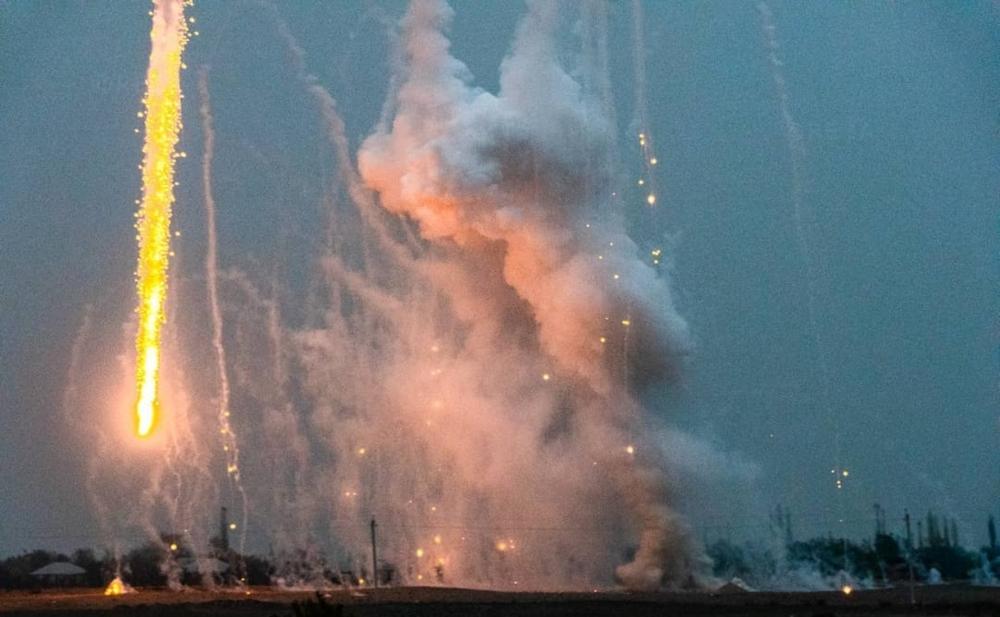 Ermənistanın atdığı fosfor bombasının zərərsizləşdirildiyi an -  Fotolar