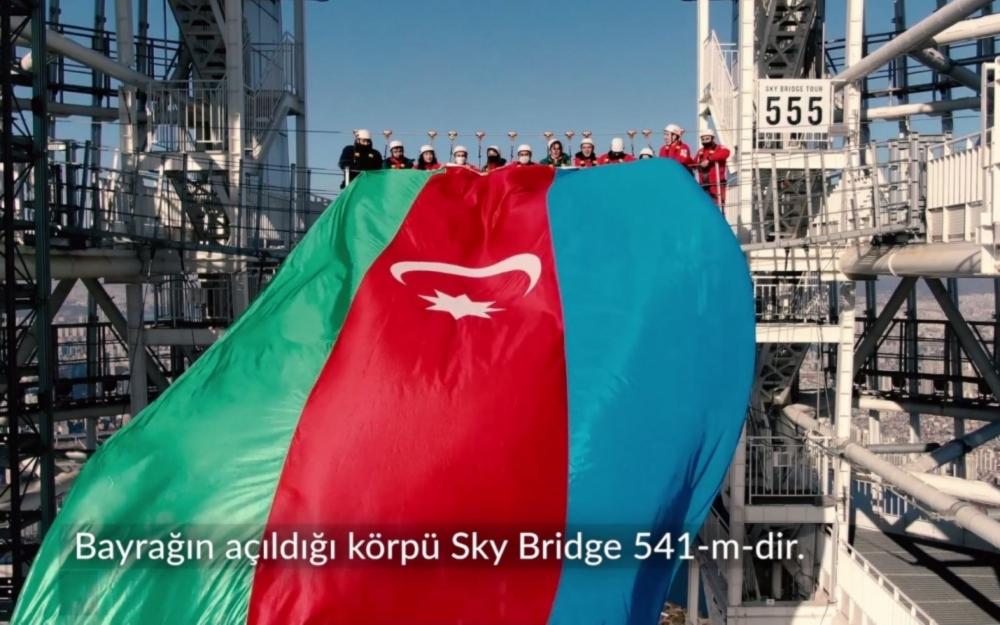 Bayrağımız dünyanın ən hündür beşinci göydələnində dalğalanıb -  Fotolar