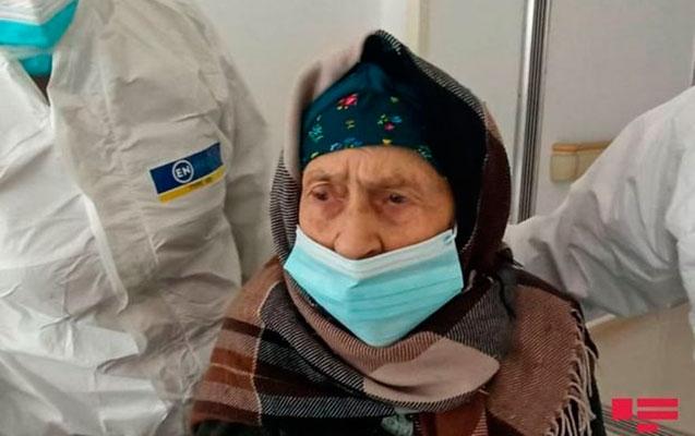 Goranboyda 110 yaşlı nənə koronavirusdan sağaldı -  Fotolar