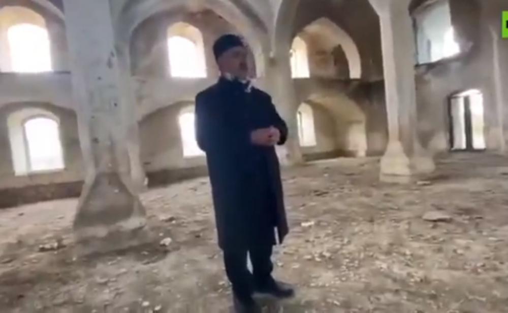 27 ildən sonra Ağdam məscidində dua oxundu -  Video