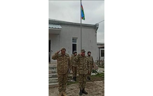 Şellidə Azərbaycan bayrağı ucaldıldı -  Fotolar