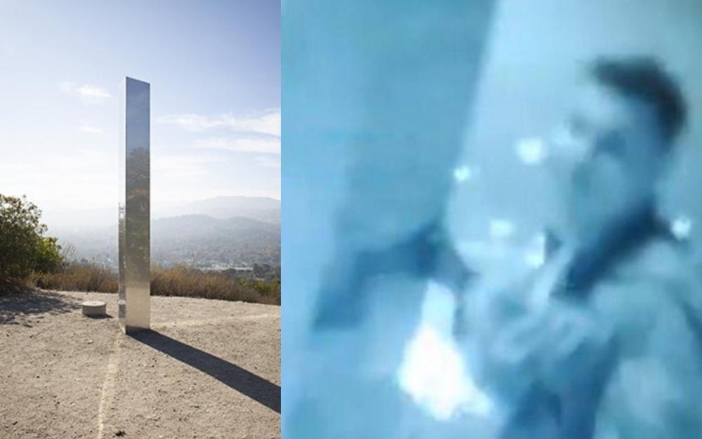 Kaliforniyadakı sirli sütun oğurlandı -  Video
