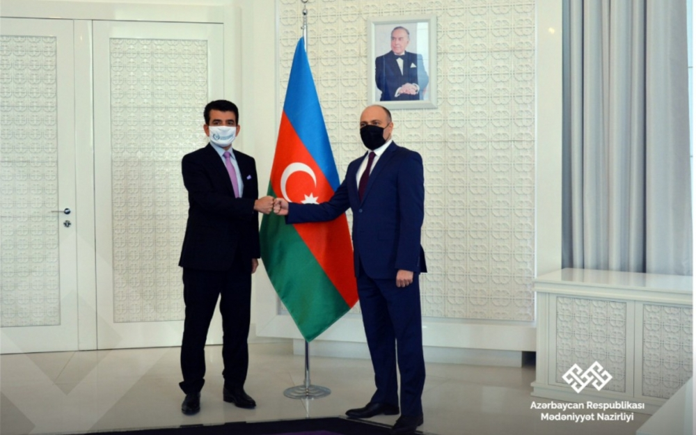Anar Kərimov ICESCO-nun Baş direktoru ilə görüşüb - Fotolar