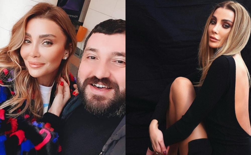 Bakıya gələn Özge Ulusoy Elnurla bir arada - Foto+Video