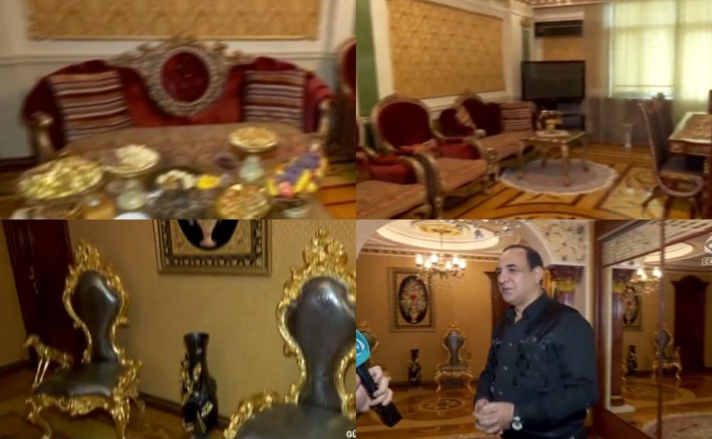 Manaf Ağayev yenə evi ilə gündəmdə - Video