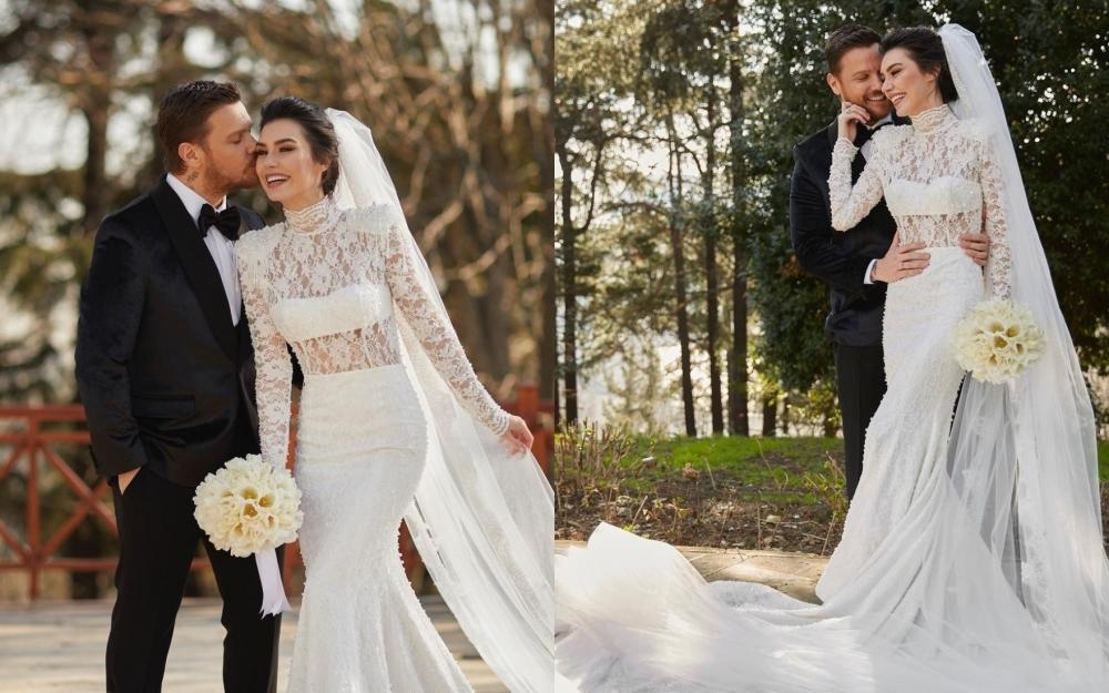 Sinanla evlənən Burcu reklama çəkilir