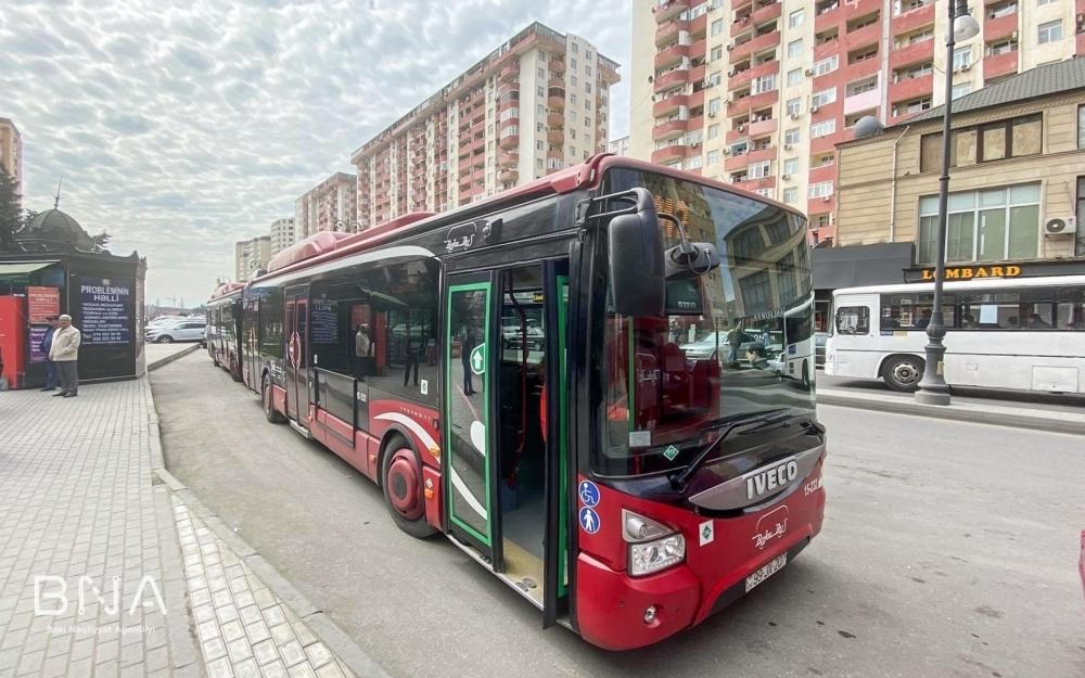 Sabahdan bu avtobusların hərəkət sxemi dəyişdirilir