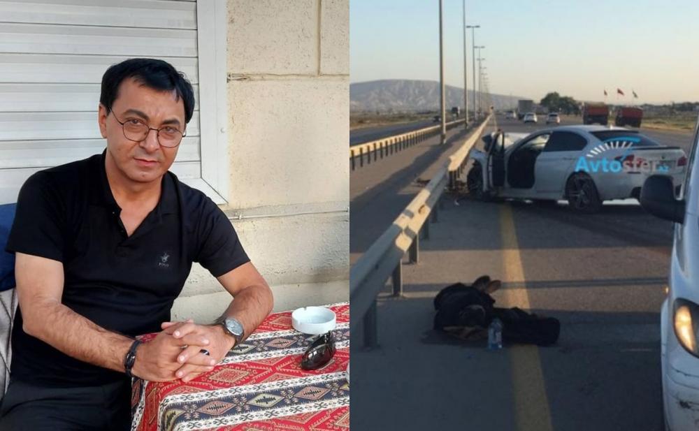 Aslan Hüseynovun keçirdiyi qəzadan fotolar