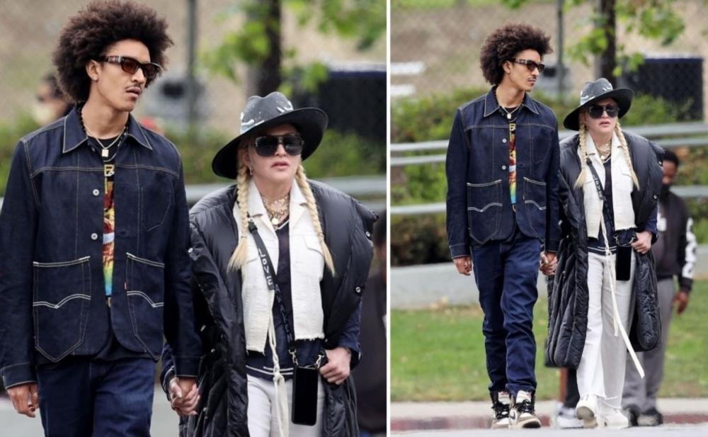 Madonna özündən 35 yaş kiçik sevgilisi ilə - Fotolar