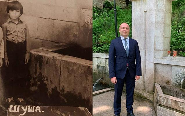 Anar Kərimov 36 il sonra yenidən İsa bulağında - Fotolar