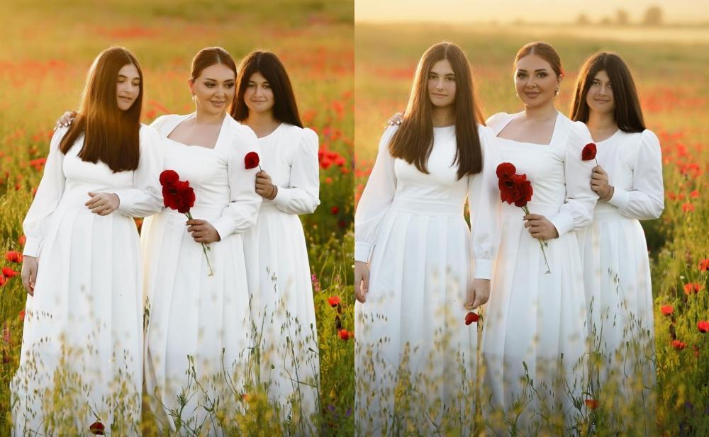 Lalə Azərtaş bu dəfə qızları ilə fotosessiya etdirdi