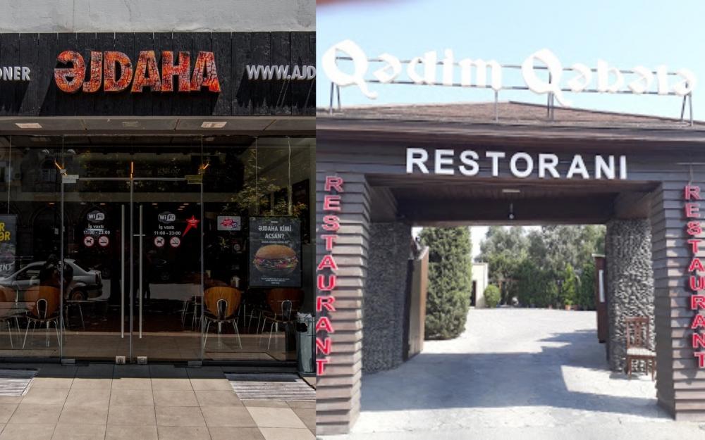 Məşhur kafe və restoranlar cərimələndi - Siyahı
