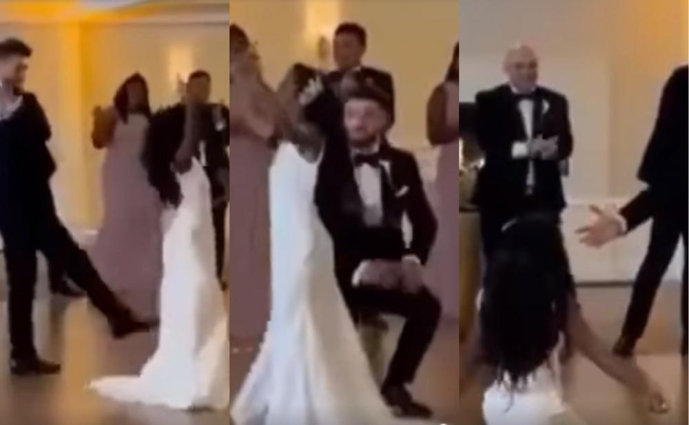 """Azərbaycanlı oğlanla qaradərili xanımın """"Naz eləmə"""" rəqsi - Video"""