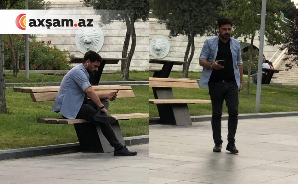 """""""Kurtlar Vadisi""""nin aktyoru Bakı bulvarında - Fotolar+Video"""