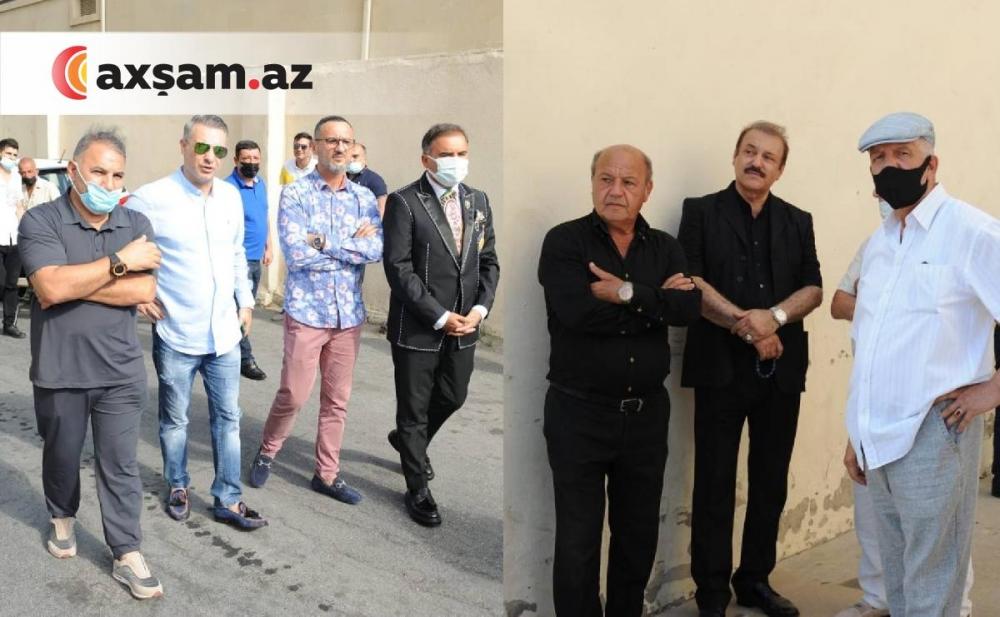 Sənət dostları Xalq artisti ilə vidalaşmağa yığışıb - Fotolar