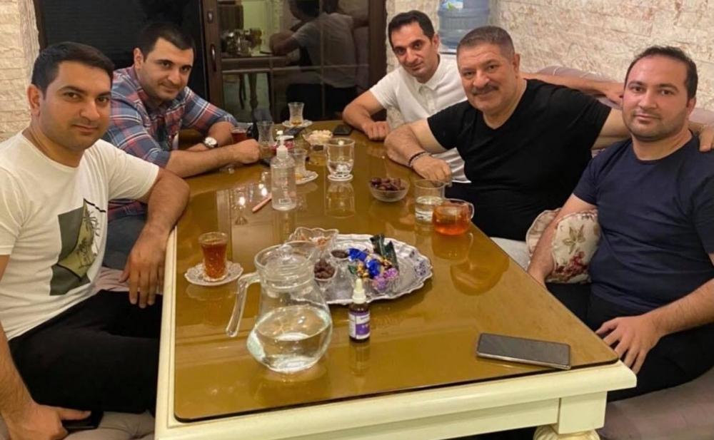 Ağadadaş Ağayev oğulları ilə - Foto